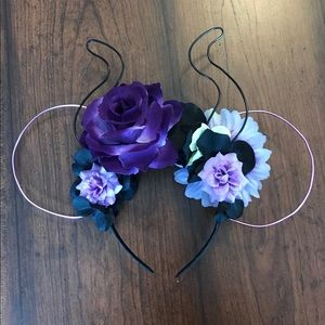 Maleficent Wire Flower Crown Disney Mouse Ears
